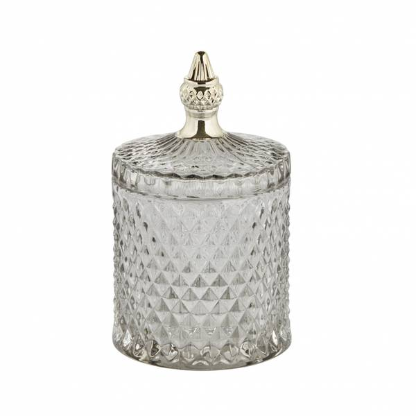 Miya glasskrukke lys grå H 18cm